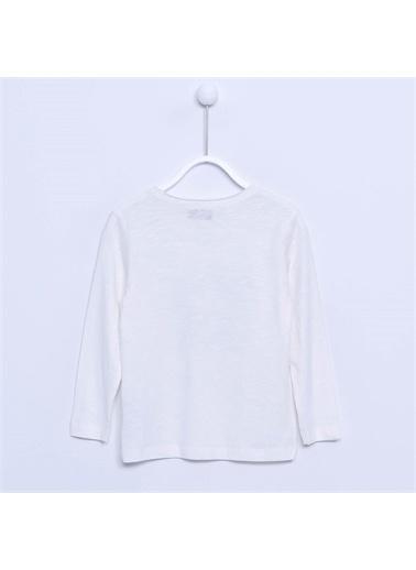 Silversun Kids Erkek Çocuk Baskılı Tişört - Bk 210174 Ekru